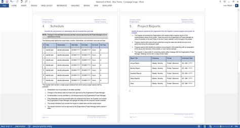 statement  work template