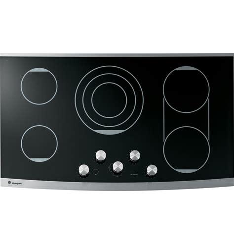 ge electric cooktop ge monogram 174 36 quot electric cooktop zeu36kskss ge appliances
