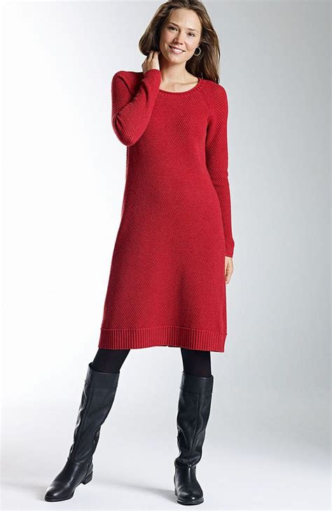 dresses for misses j textural sweater dress womens clothing