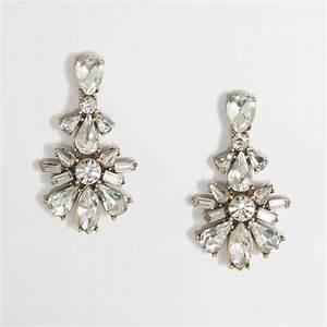 j crew factory flower pendant earrings in metallic