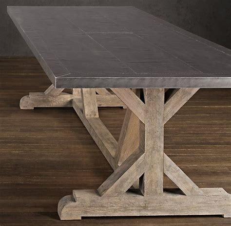 restoration hardware railroad tie rectangular dining table