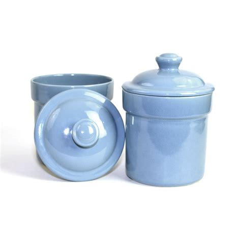 retro kitchen canisters blue kitchen canister set by treasure craft usa set of 2