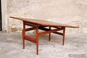 Table A Manger Vintage : table haute basse transformable danoise teck gentlemen designers ~ Teatrodelosmanantiales.com Idées de Décoration