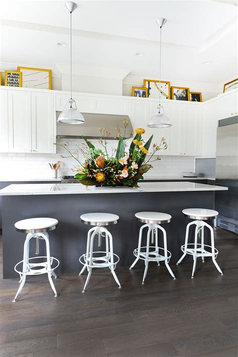 modern white kitchens packed  personality white