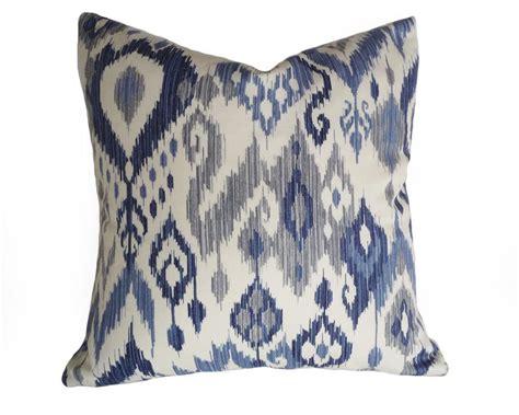 Blue Gray Throw Pillows by Blue Ikat Pillows Ikat Pillow Covers Blue White Pillows