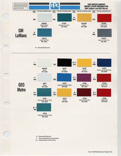 gm auto color chips color chip selection auto paint colors codes car paint colors paint