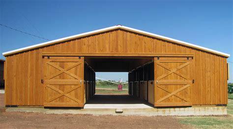 Livestock Aisle Barns For Sale