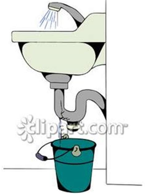 clogged drain   bathroom sink royalty  clipart