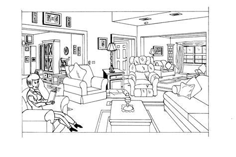 coloriage de chambre de fille dessin de coloriage chambre à imprimer cp06377
