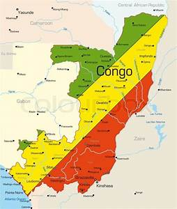 Abstract Vector Color Map Of Congo