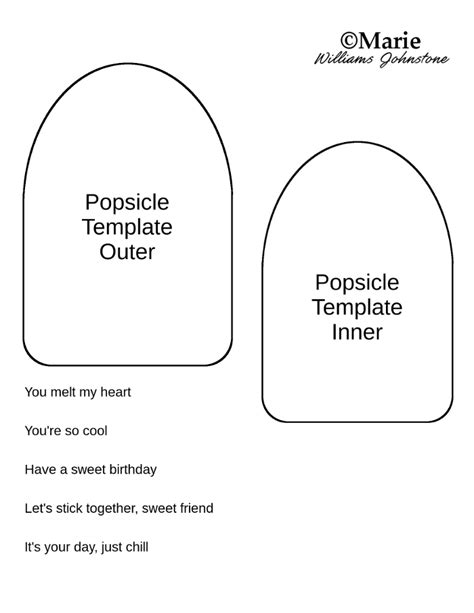 popsicle template popsicle card tutorial and free template