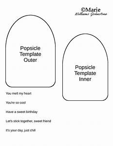 Popsicle Card Tutorial and Free Template