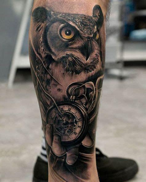 resultado de imagen  tattoo buho reloj tatuaje buho