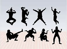 Dance Pose Silhouettes Vector Art & Graphics freevectorcom