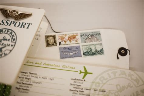 plane ticket invitations passport programs  luggage