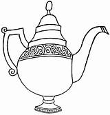 Teapot Coloring Pages Teapot2 sketch template