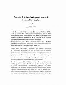 Pdf  Teaching Fractions In Elementary School  A Manual