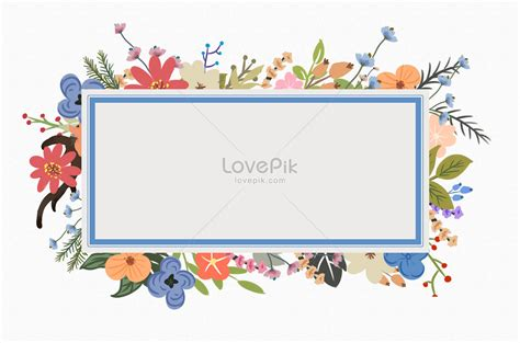 Border Background Images by Painted Flower Border Background Painted