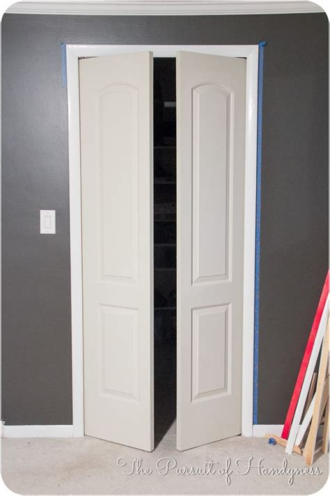 Bifold Closet Door Opening by Trim Bifold Doors Tutorial Home Decor