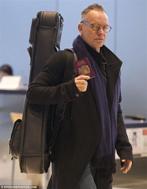 Sting Musician Wearing Glasses