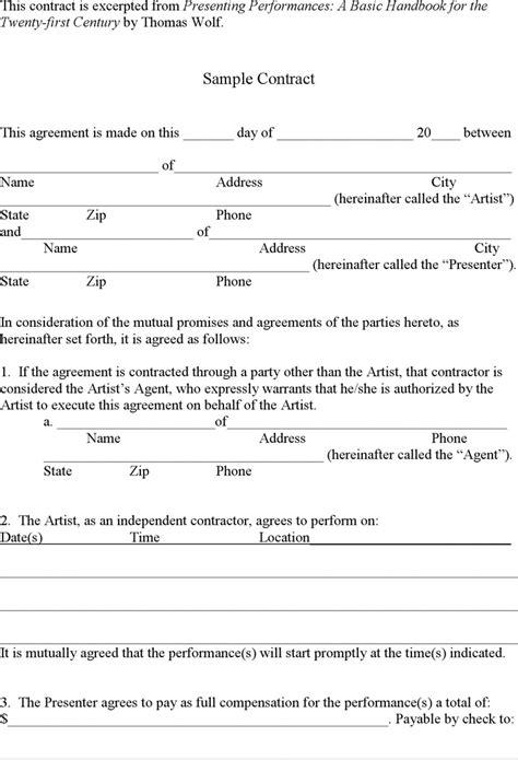 simple contract template peerpex