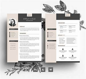 Professional Cv Template   Business Card   2 Page   Cover