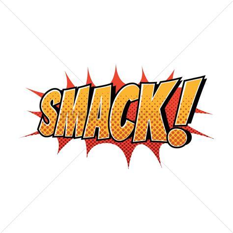 Smack Comic Wording Vector Image Stockunlimited