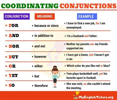 coordinating conjunctions coordinating conjunctions