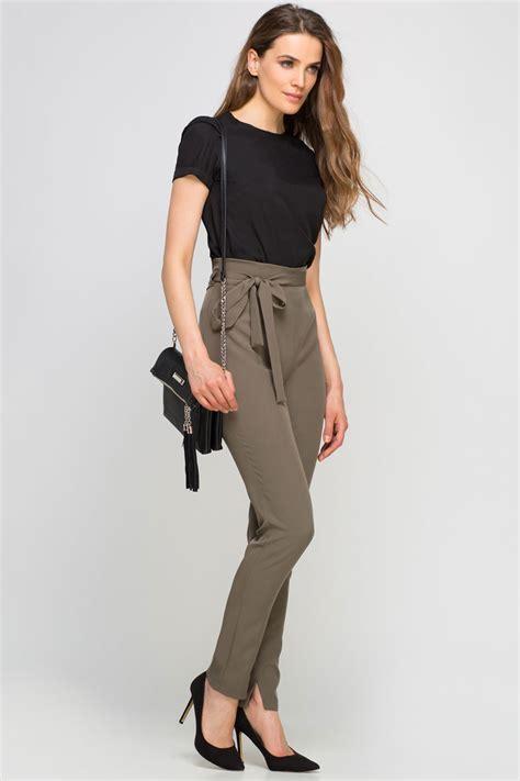pantalon fluide taille haute pantalon classique taille haute hz17 jornalagora