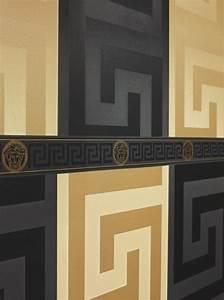 22 besten design versace home tapeten bilder auf With balkon teppich mit versace medusa tapete