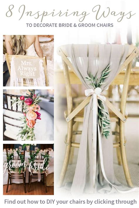 8 inspiring ways to decorate your bride and groom chairs