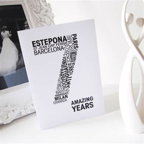 7th wedding anniversary 7th personalised wedding anniversary card