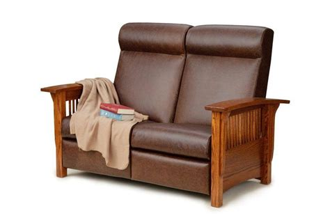 Mission Loveseat Recliner by Amish Made Loveseats From Dutchcrafters Amish Furniture