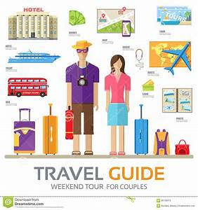 Travel Guide Infographic With Vacation Tour Locations And