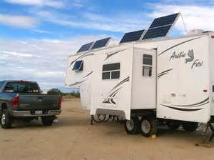 Solar Panel RV 5th Wheel Trailer