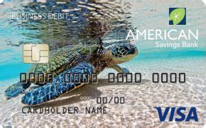 Open a savings account and start building your money today. American Savings Bank Business Edition Visa Card Secured ...
