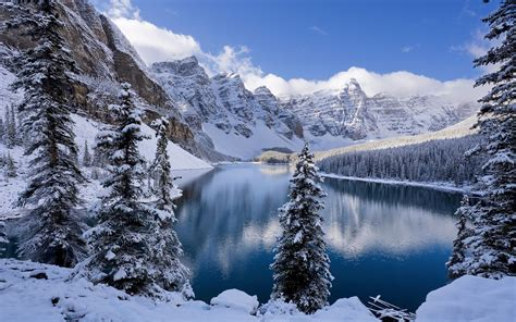 moraine lake in winter canada wallpapers hd wallpapers