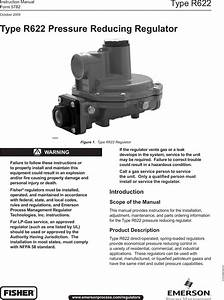 Emerson Type R622 Pressure Reducing Regulator Instruction
