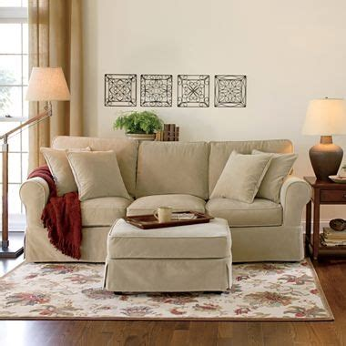 jcpenney slipcover sectional sofa linden street friday velvet slipcovered sofa jcpenney