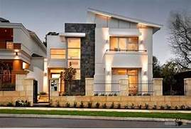 Country House Facade Design Big Modern Private House With White Facade And Skillion Roof Design