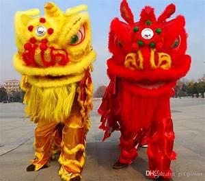 Oisk Quality Children New Lion Dance Mascot Costume Made ...