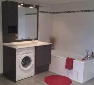 machine a laver dans salle de bain agencement salle de bain avec machine laver