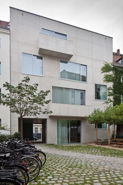 Chipperfield Kantine Berlin by Puristic Facades In Exposed Concrete Chipperfield S