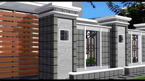 model pagar rumah minimalis type  terbaru unik youtube