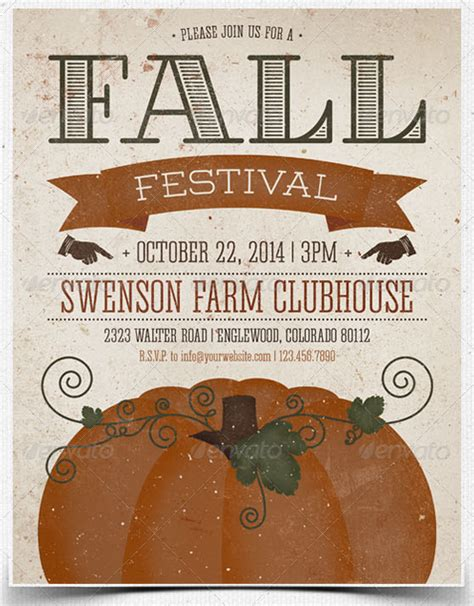fall festival flyer template print ready flyer templates printfirm s