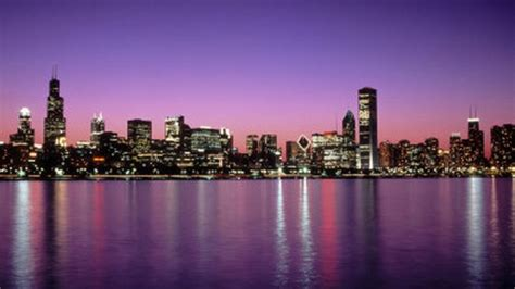 chicago night skyline wallpaper wallpapersafari