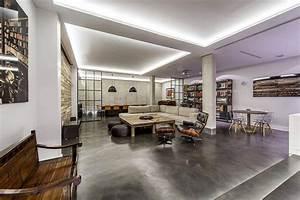 Modern Industrial Madrid Home Dressed In Concrete  Wood