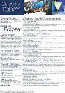 Celebrity Eclipse Today Daily Program Cruise With Gambee