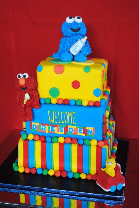 sesame baby shower cake sesame square birthday cake sweetes bakeshop