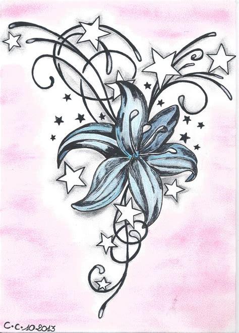 tatouage dessin motif fleur de lys et arabesque dessins par les dessins de kriss dessins